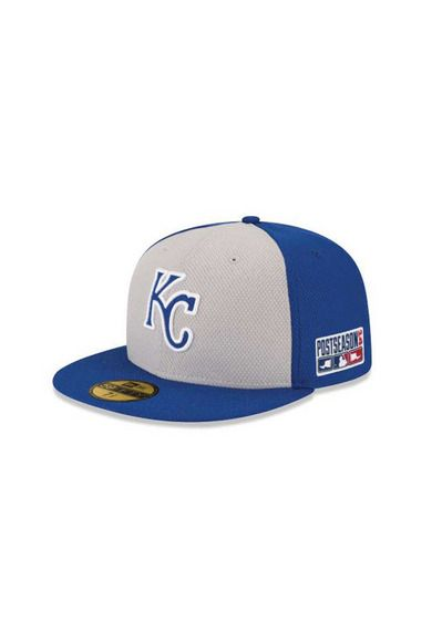 more photos 42aff 04777 New Era Kansas City Royals Postseason 5950 Royal Blue Grey Fitted Hat http