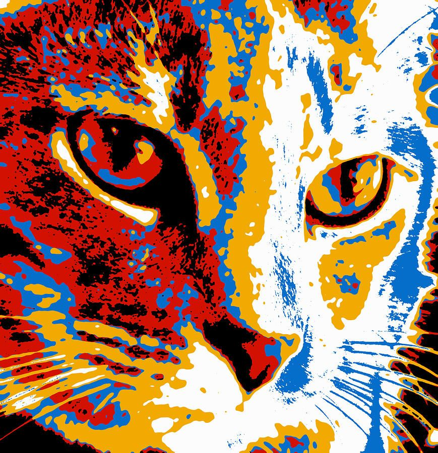 Cat Pop Art Paintings
