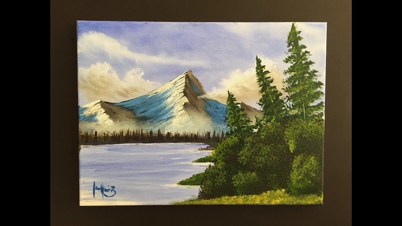 182 Painting Side By Side With A Beginner Mountain Scene Youtube Landscape Paintings Mountain Scene Painting