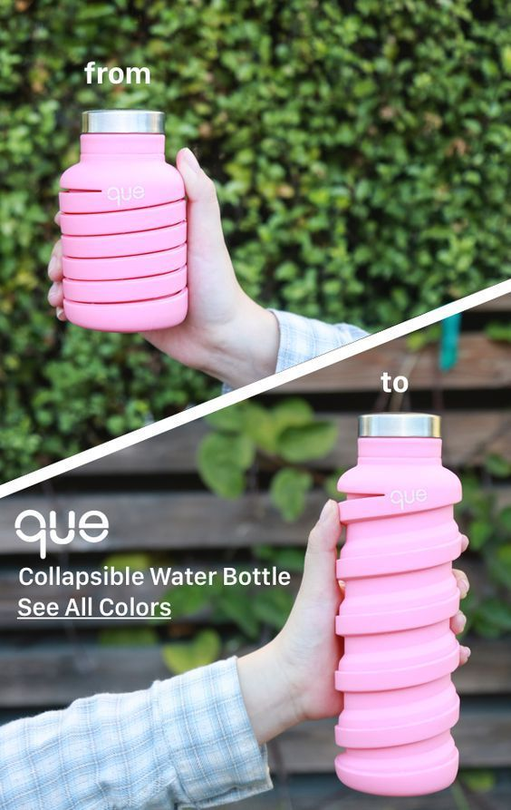 One bottle TWO sizes. que Bottle is the collapsible bottle designed for your active…