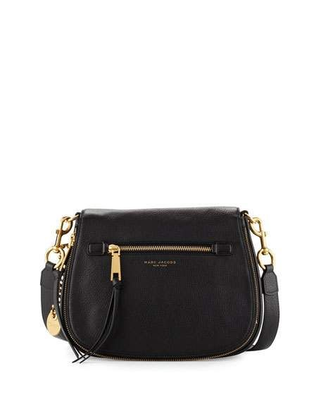 Marc Jacobs Recruit Leather Saddle Bag, Black   purses i like ... 8a025c10fe