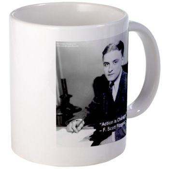 """#Fitzgerald #Quote """"Action Is Character"""" #Mug  #coffee #gift 50% off Code CANE @C/O Ends 11/15 12PT"""