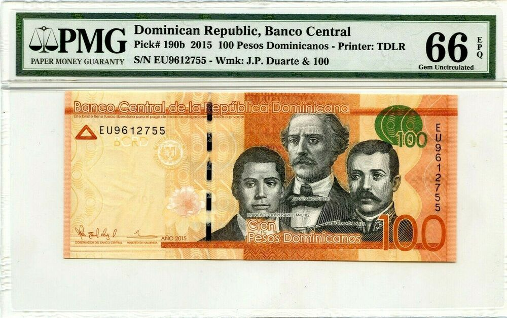 100 Pesos Dominica Nos 2017 Gem Unc