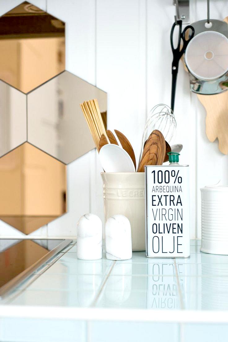 Miodowe lustro honeycomb mirrors u home kitchens u pinterest