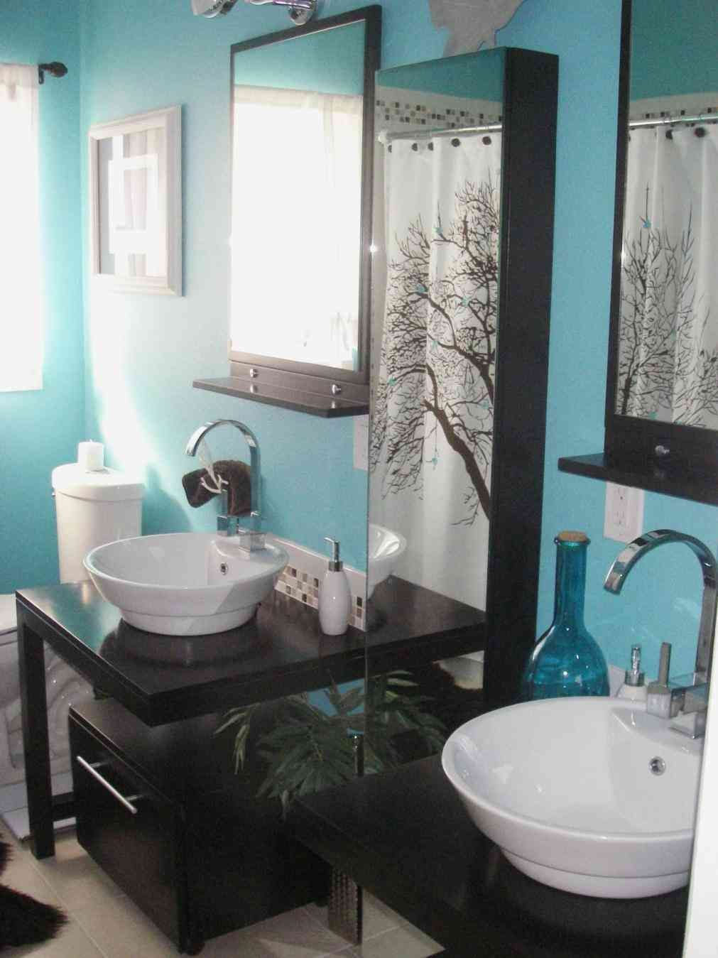 Teal And Brown Bathroom Bathroom Colors Turquoise Bathroom