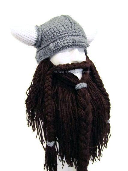 Bearded Viking Helmet Hat Men\'s Costume Viking by CraftyRidge ...