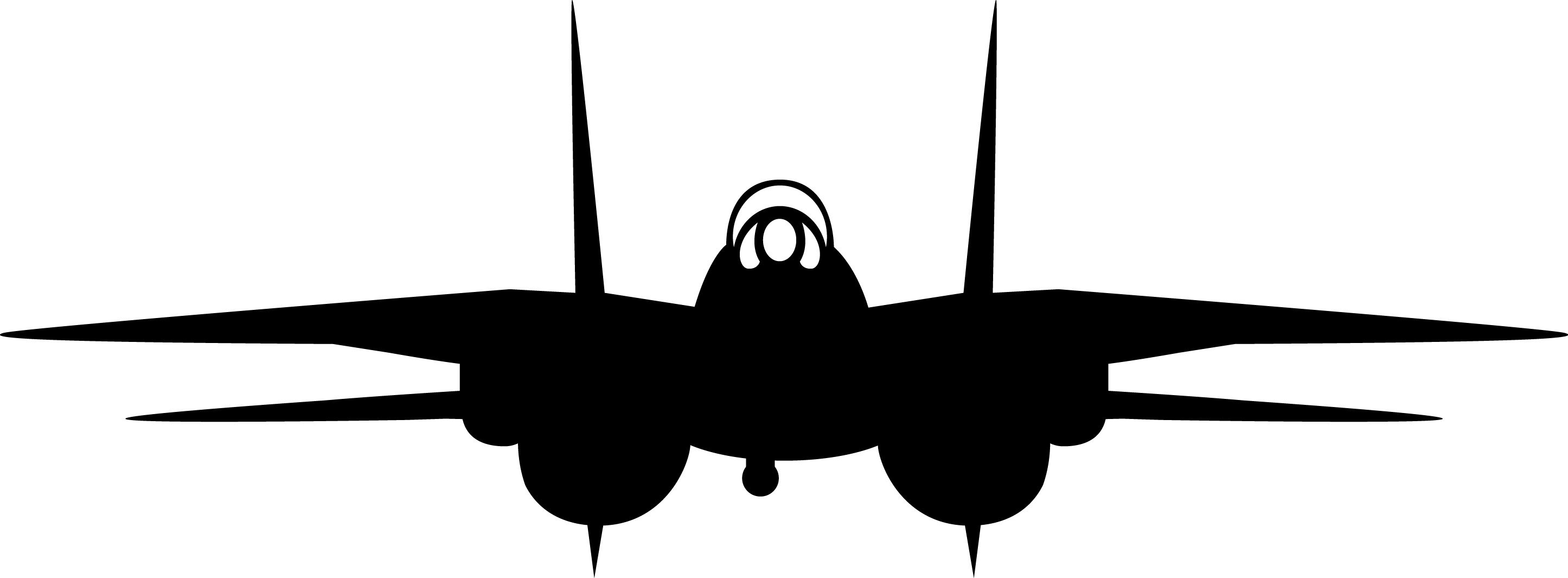 F 14 Tomcat Invertable Silhouette F 14 Decal