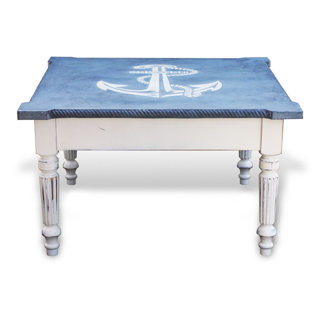 Nautical Old World Alder Wood Coffee Table By Recherche Furnishings