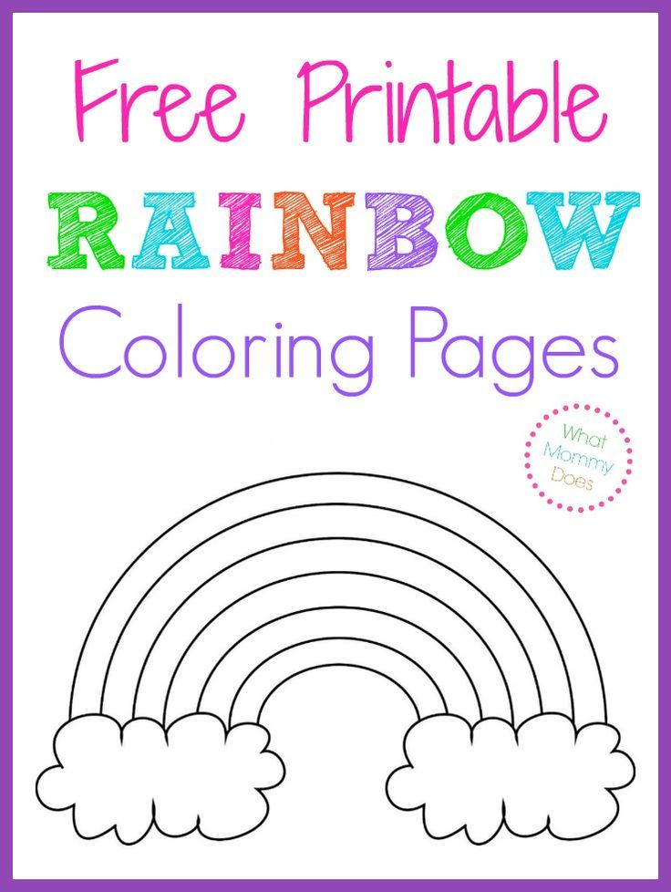 Free Printable Rainbow Coloring Pages Rainbow birthday