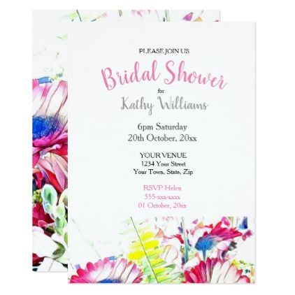 040759 Floral Bridal Shower Invitation Bridal showers, Shower - bridal shower invitation templates