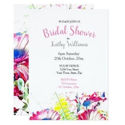 040759 Floral Bridal Shower Invitation Bridal showers, Shower - bridal shower invitation templates