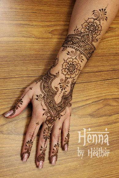I love henna! If ever I have a job where I don't have to ...