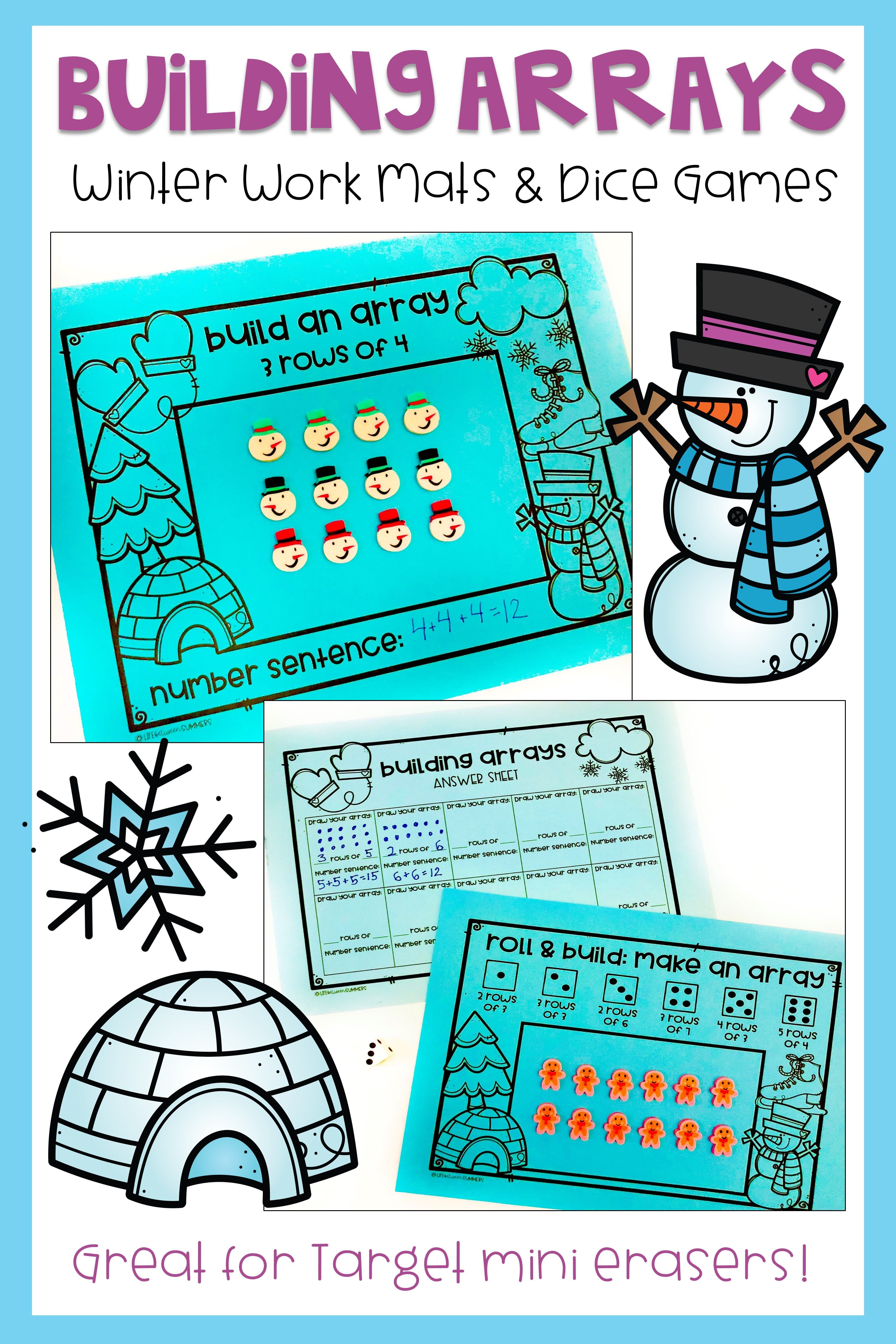 Winter Activities For Repeated Addition And Multiplication