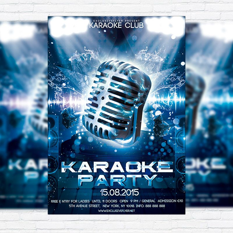 Karaoke Party – Premium Flyer Template Http://Exclusiveflyer.Net