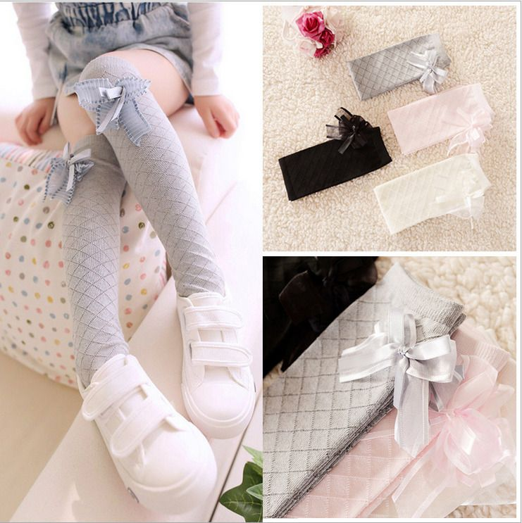 96b550b5acf  3.99 - Baby Kids Girls Child Lace Cotton Soft Knee-High Socks Leggings  Stockings 1-10Y  ebay  Fashion