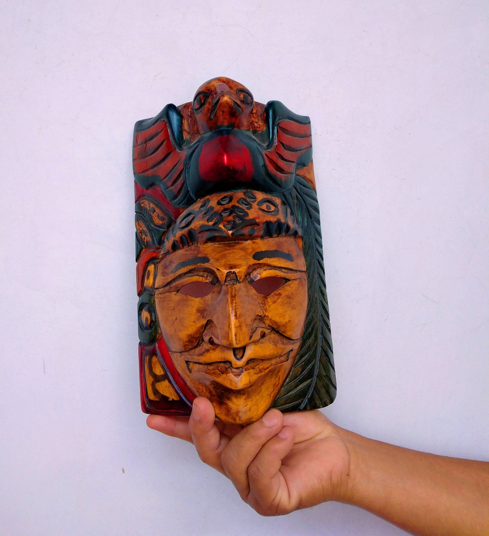 Mayan Wooden Mask / Guatemalan Tribal Mask / Decorative
