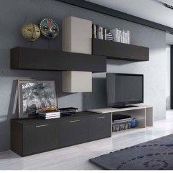 composition de meubles tv muraux design camélia led atylia | lakas ... - Composition Meuble Tv Design