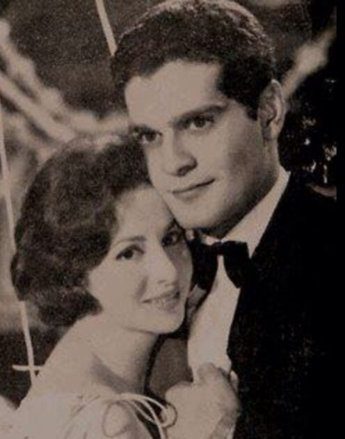 ♥the most beautiful couple in life and Egyptian cinema  Faten & Omar  She left us R.I.P  princess