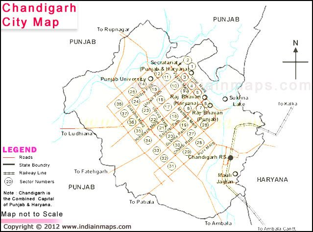 Carte Inde Chandigarh.Chandigarh City Map Chandigarh Is A City And Union