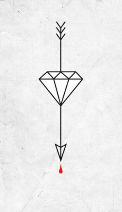 Pin By Sookie Chanel On Tattoos Diamond Tattoo Designs Small Diamond Tattoo Arrow Tattoo Design
