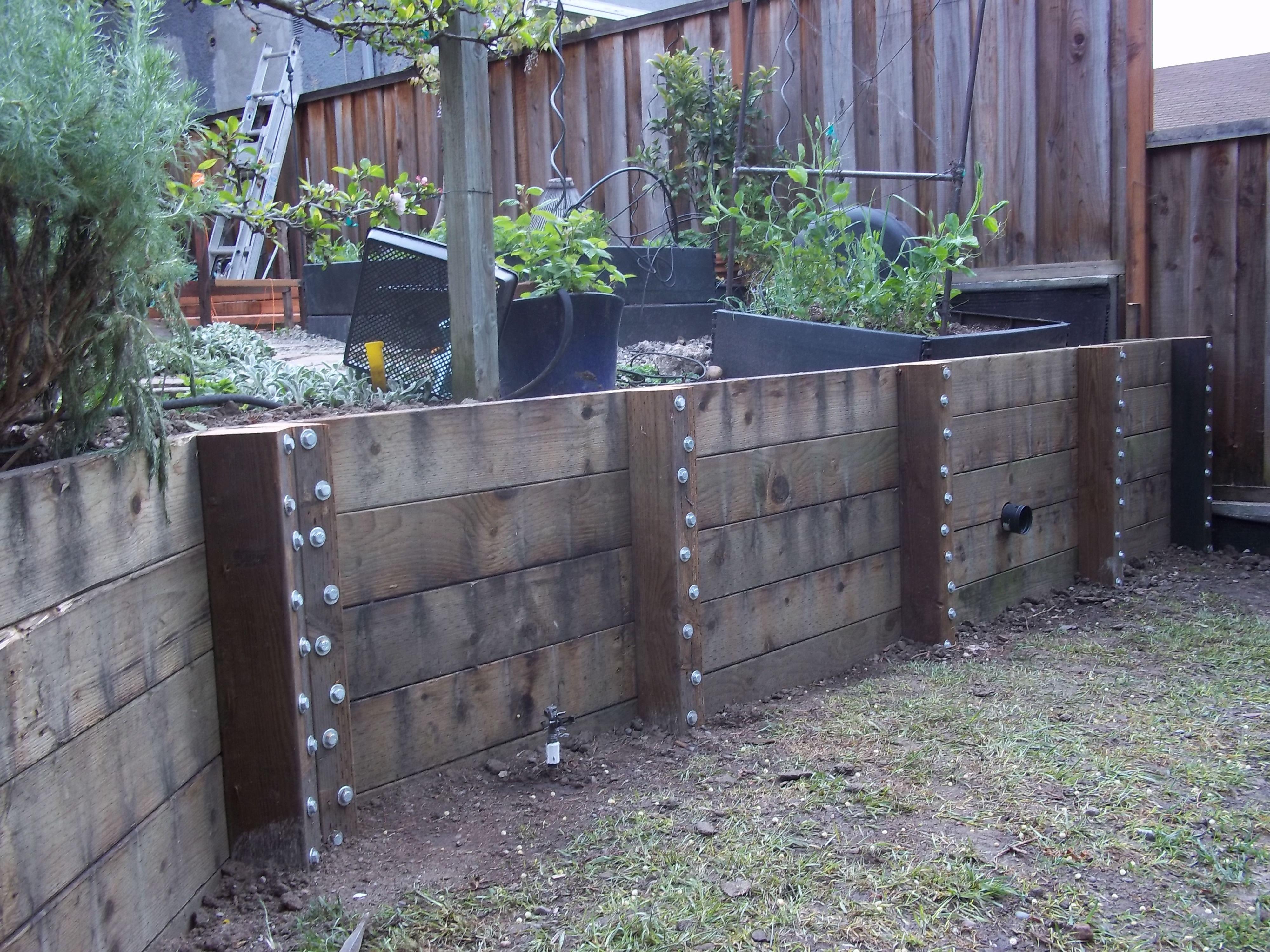 66 wood retaining wall design