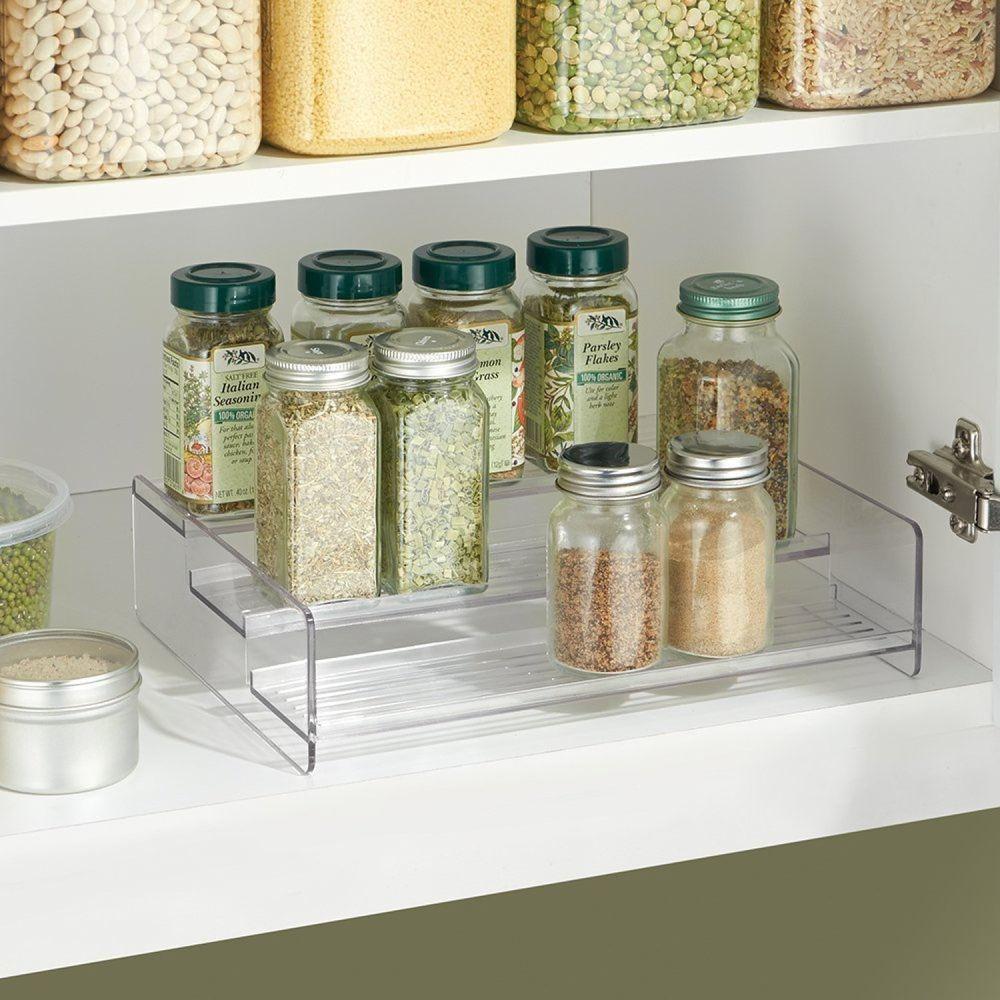 Tier Spice Rack Kitchen Pantry 3 Tier Organizer Cabinet Spice Rack Jar Storage