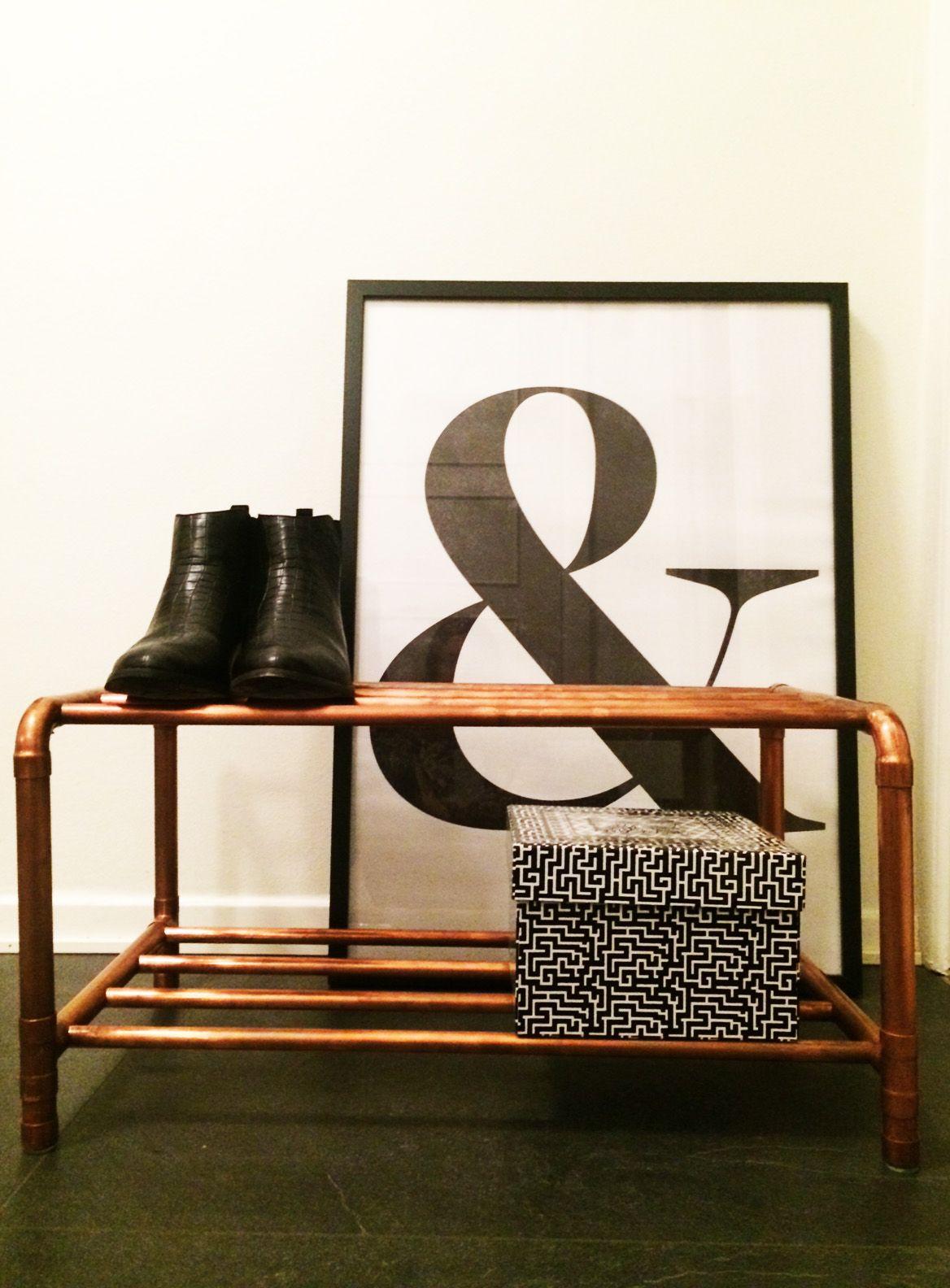 Skoställ i koppar 60 cm bred Copper design Pinterest För hemmet, Idéer och Inredning