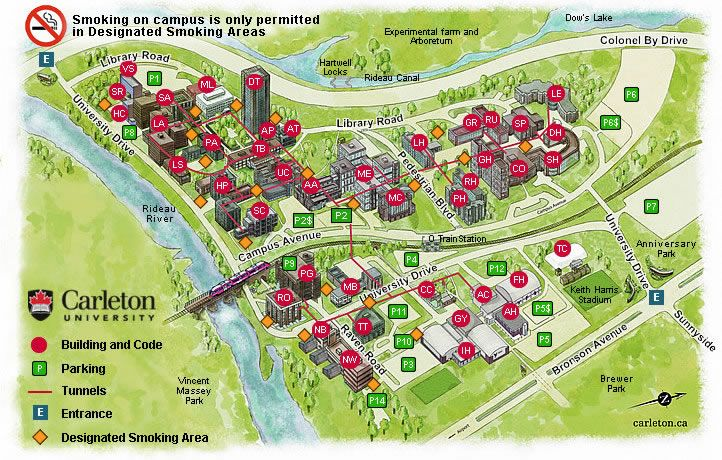 Carleton U Campus Map Campus Maps Pinterest Campus Map