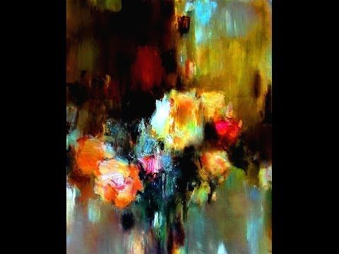 Misty Roses Modern Impressionism Easy Flower Paintings Technique Oil Painting Tutorial Youtube Easy Flower Painting Flower Painting Painting Tutorial