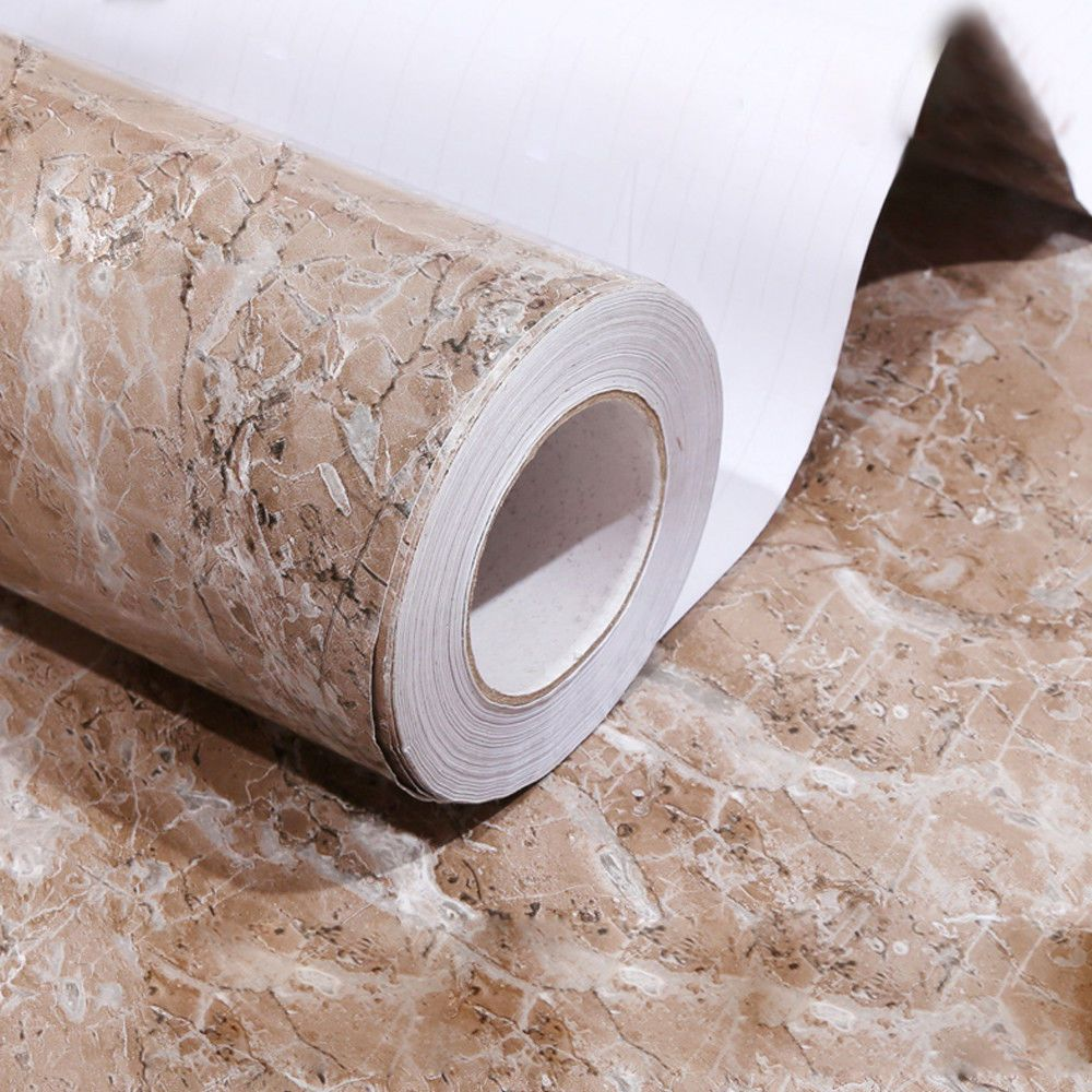 Brown Granite Marble Countertop Self Adhesive Peel And Stick Vinyl