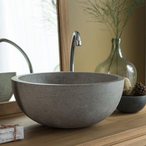 Terrazzo Waschbecken Isa grau - - Tikamoon Toiletten Pinterest