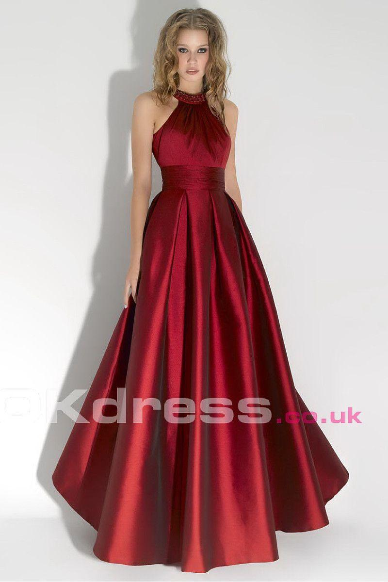 Empire Sleeveless Sash Floor-Length Long Formal Dresses - by OKDress UK