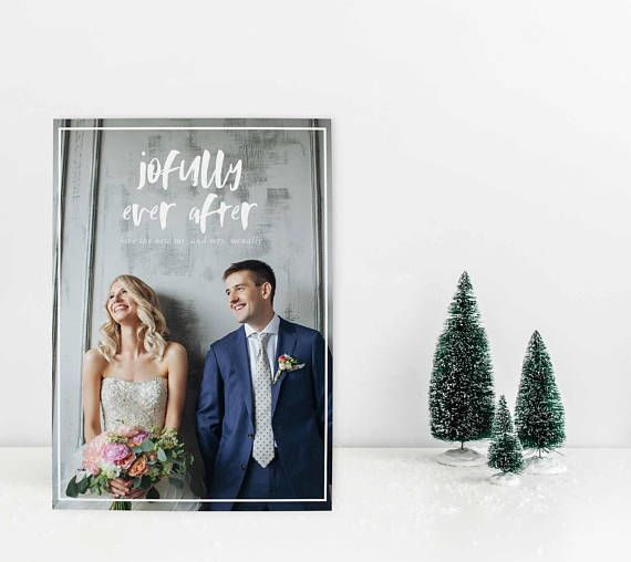 newlywed christmas card just married christmas card our blush for