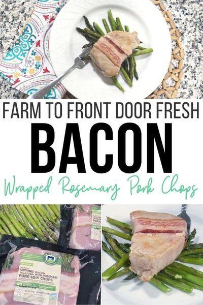 Farm to front door has never been easier with Perdue Farms direct-to-consumer bundles that include these amazing bacon wrapped rosemary pork chops. #PerdueFarmsFarmtoHome #PerdueFarms_Partner AD #FamilyFarming #ThankAFarmer #FamilyFarmers #RaisedWithCare @PerdueFarms @ColemanNatural @NimanRanch @PerdueChicken #dinner