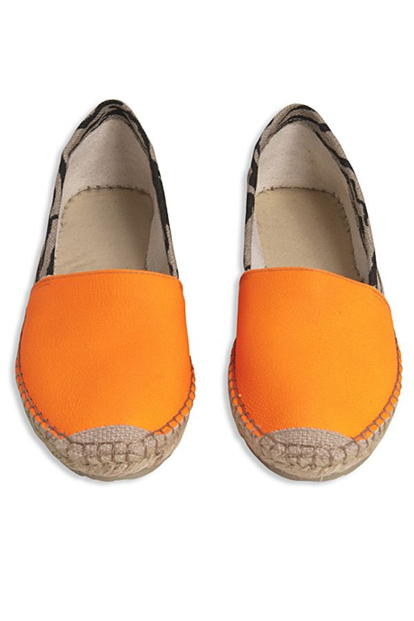 Blacklily orange espadrilles