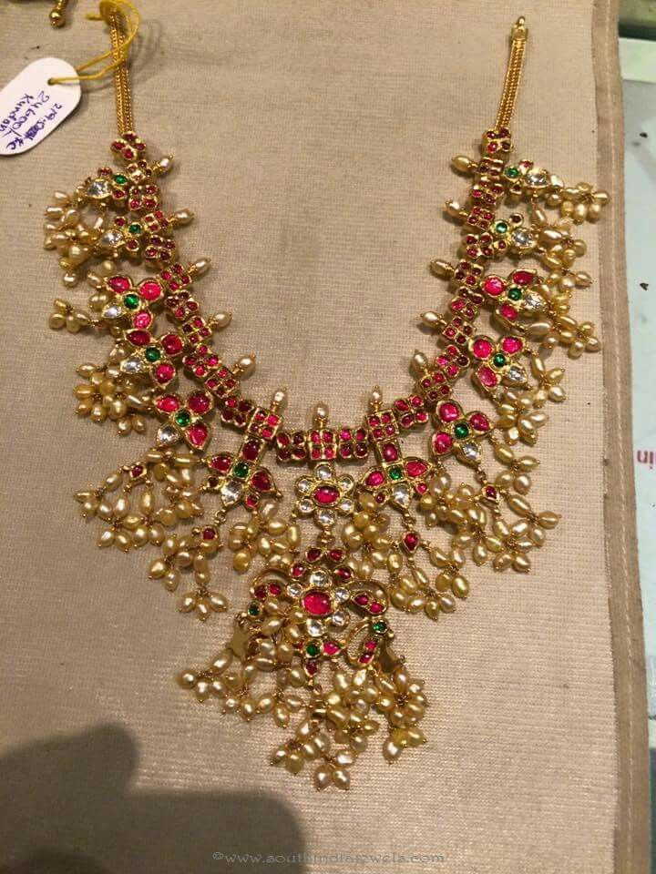 Pin By Shreedevi Adibhatla On Jewellery Designs Gold Jewelry Fashion Jewelry Patterns Gold Necklace Indian Bridal Jewelry