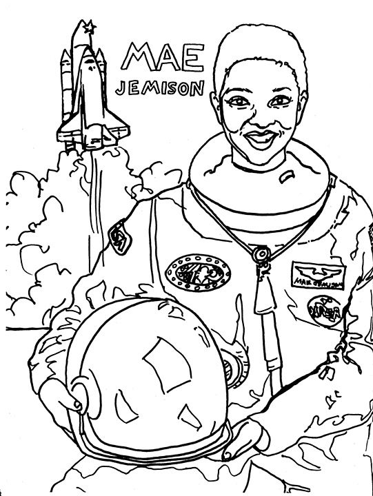 Mae Jemison Coloring Pages Black History Activities Black