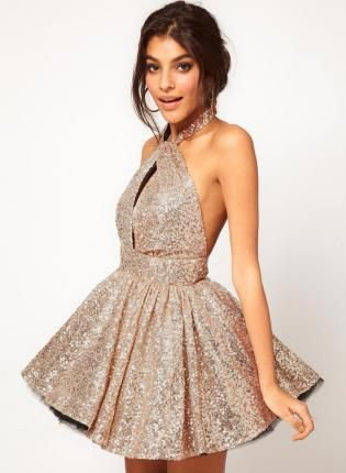 eea8f39b5fa Gold Day Dress - Starry Sexy backless lace sequined