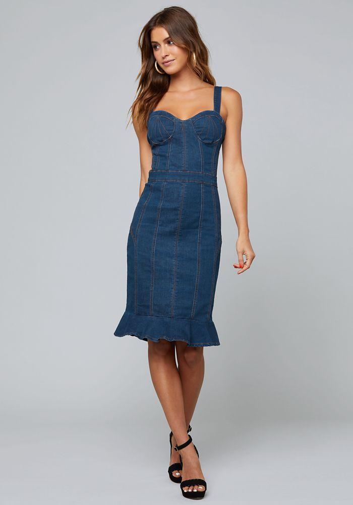 0c1a95fae5 Bebe Women s Lorent Denim Dress