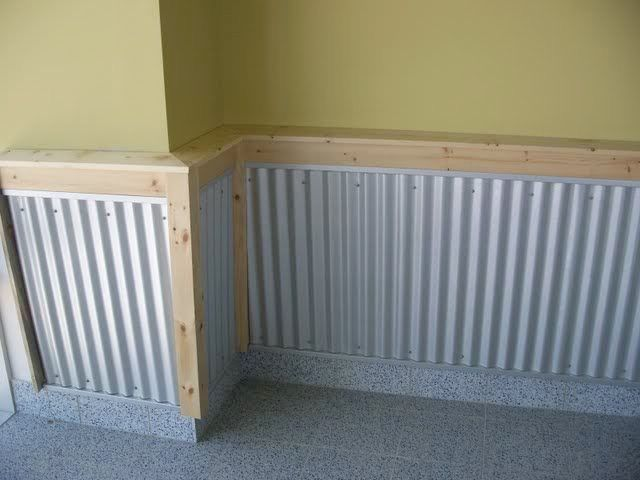 Best Corrugated Steel Chair Rails Garage Organization Garage 400 x 300