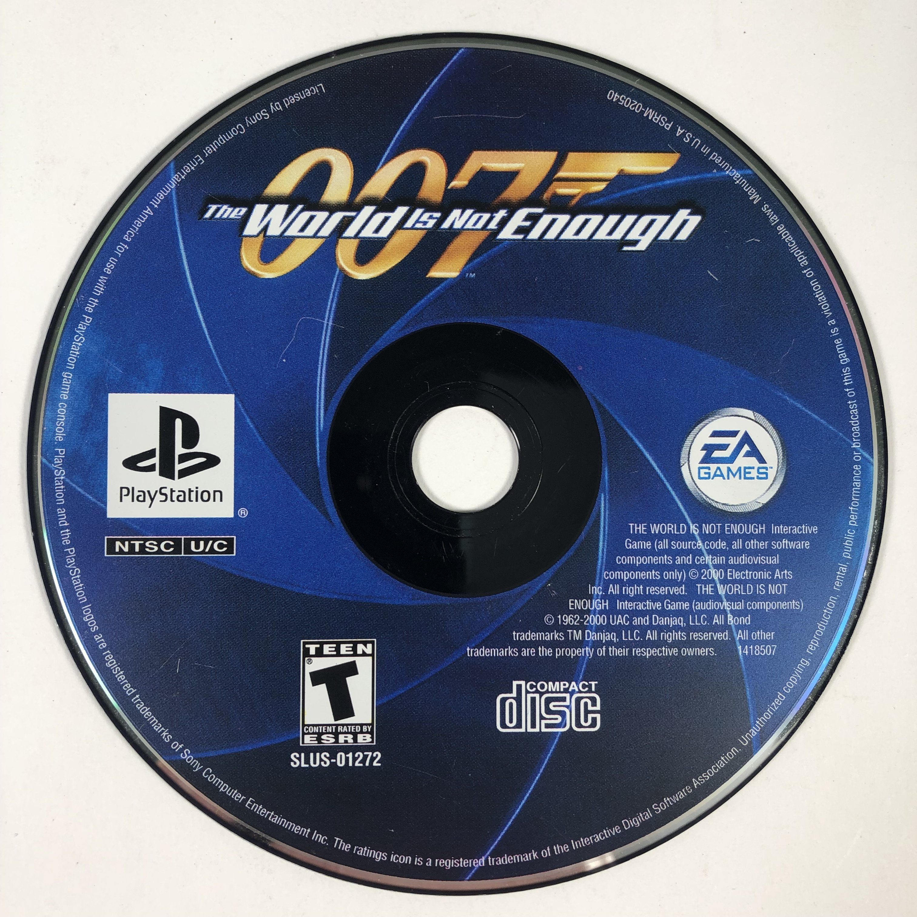 007 The World Is Not Enough Black Label Sony Playstation 1 Ps1 In