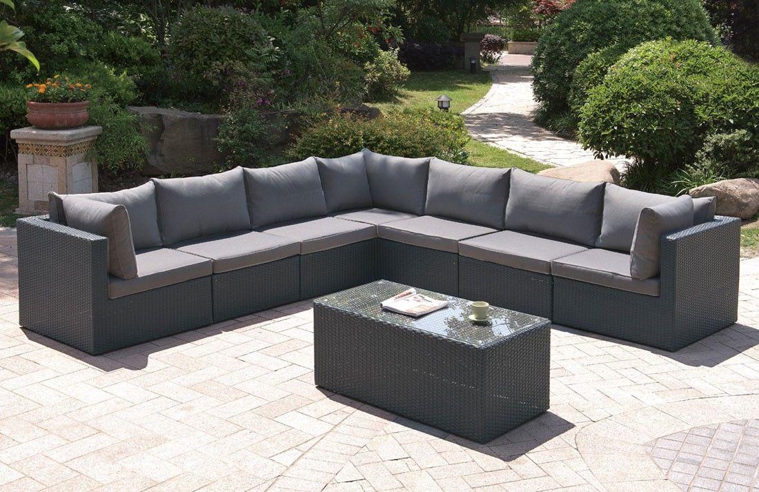 Lex Modulare Outdoor-Sectional Sofa Set 8 Stück Sectional ...