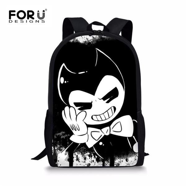 7bbff02924f8 FORUDESIGNS Bendy and The Ink Machine Children School Bags Game Backpack  Student School Bag Book Backpack Daily Backpack Bag