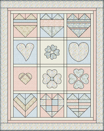 Free Block of the Month Quilt Pattern: Shabby Love | BOMquilts.com ... : free quilt block of the month - Adamdwight.com