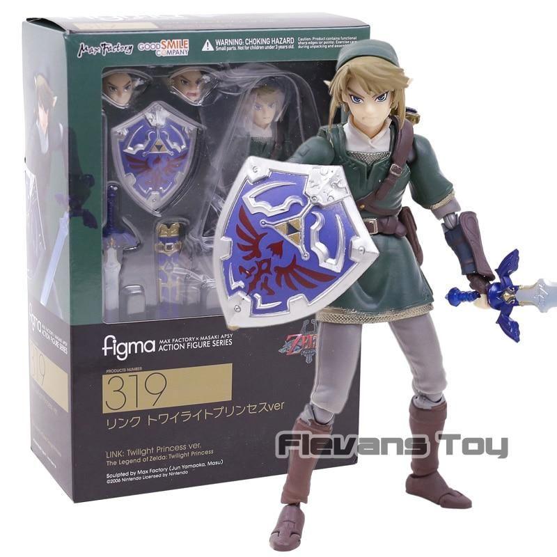 Figma 319 The Legend of Zelda LINK Twilight Princess Action FIgure New In Box