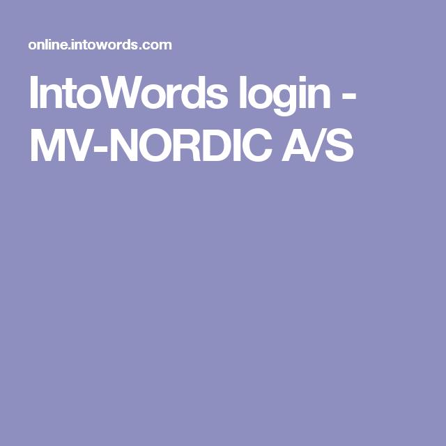 IntoWords login Opplesing av tekst fra PC.