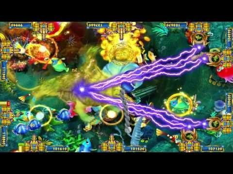 Lion Strike Skilled Fish Hunting Video Arcade Game Machine
