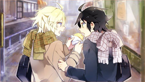 This picture is EVERYTHING. It captures their relationship so perfectly . #owari no seraph #MikaYuu #ONS
