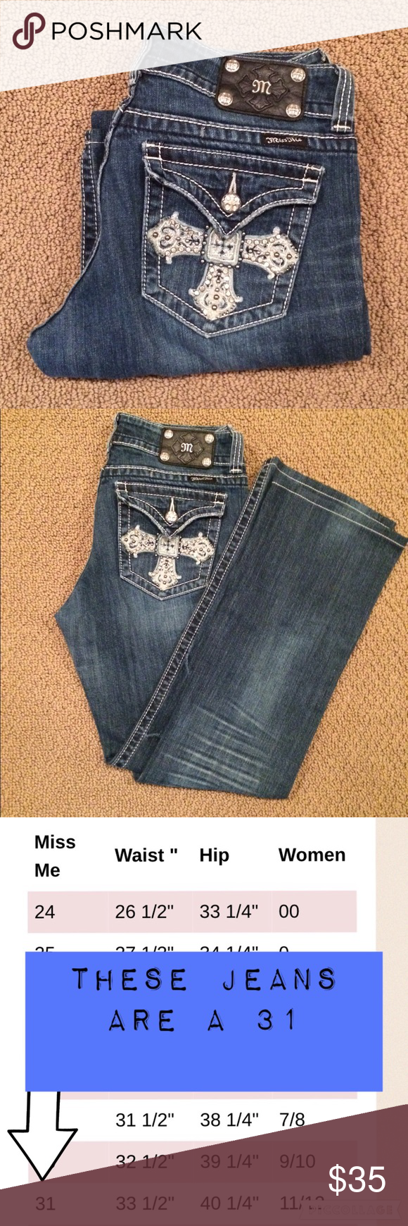 Miss Me Boot Cut Jeans!  Miss Me jeans in great condition! Miss Me Jeans Boot Cut