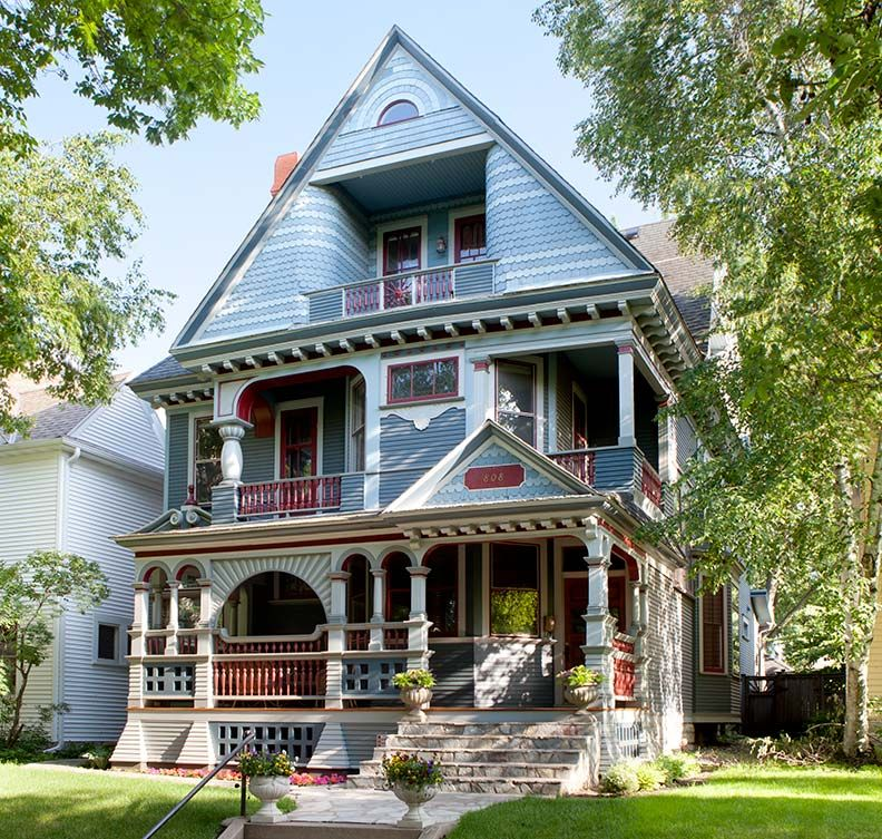 queen anne house plans historic houses st summit avenue shingled victorian colors pictures